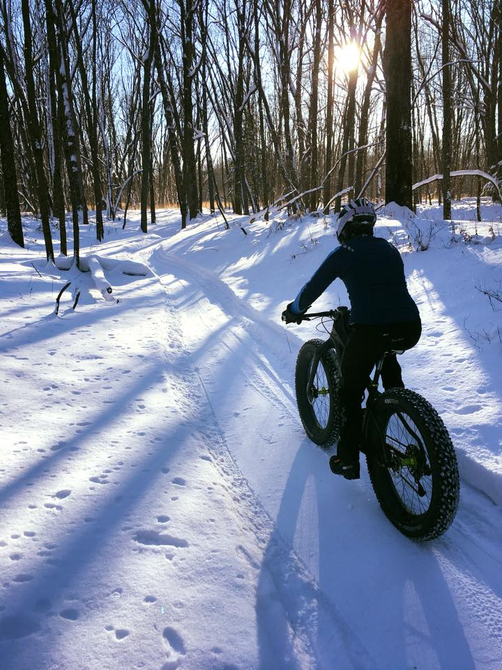 winter fat-biking in Marathon County