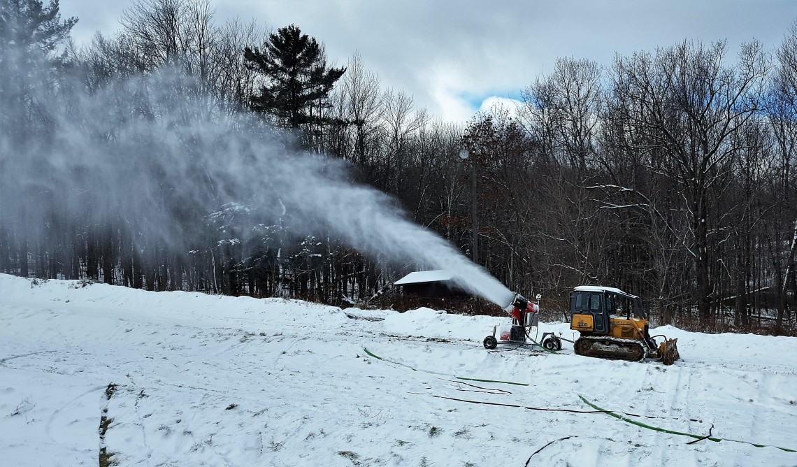 snow cannon at Sylvan Hill