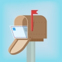 Postal box with letter