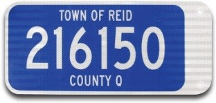 Flag-Style Address Sign