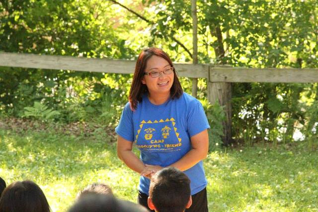 Dr. Maysee Yang Herr at Camp Phoojywng-Friend.