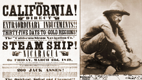 California Gold Rush ad