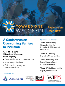 Toward One WI - Inclusivity Conference Flyer