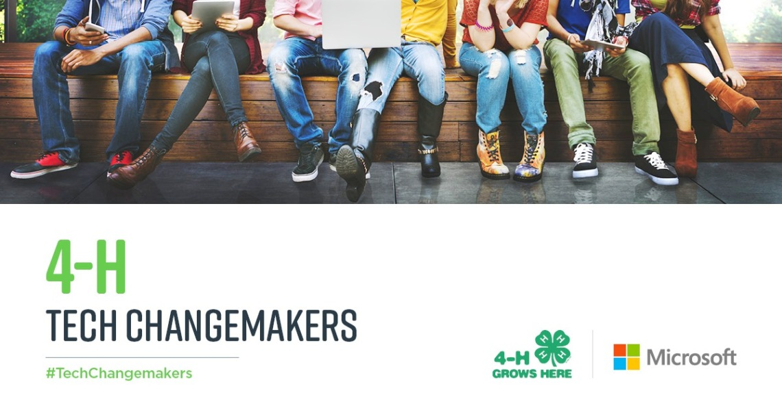 4-H TechChangemakers with logos