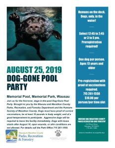 2019 Dog Gone Pool Party Flyer