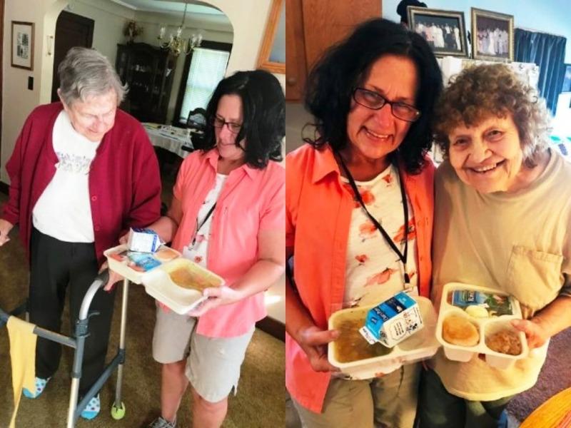 ADRC Volunteer with 2 Meals on Wheels Customers