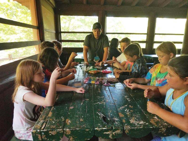 4-H Kids at Table Working