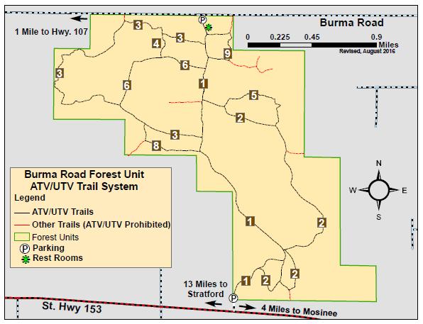 Burma Road ATV-UTV Map