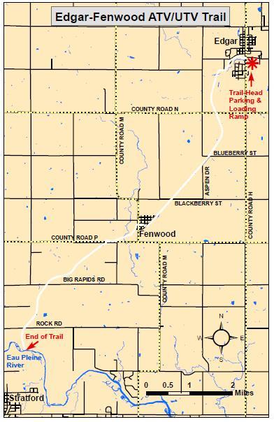 Edgar-Fenwood ATV-UTV trail map