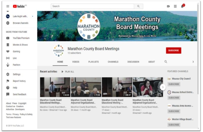 County Board Meetings - YouTube - screenshot