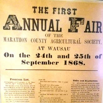 1st annual Fair in Wausau newspaper ad
