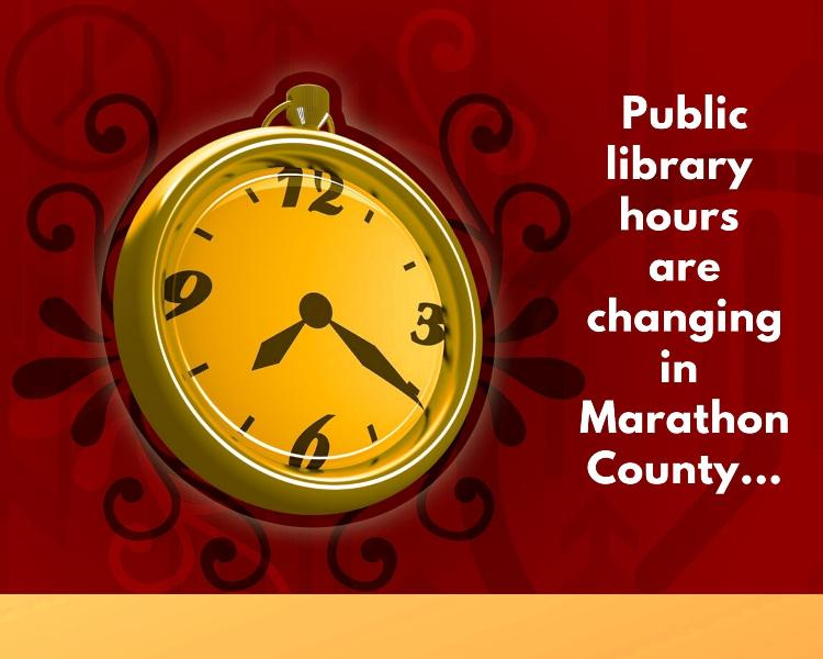 Library hours are changing