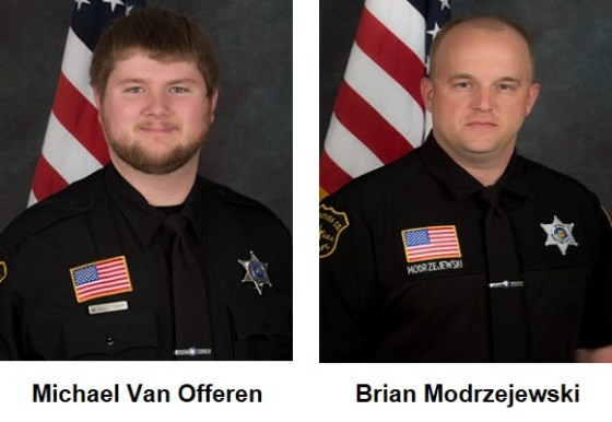 Deputies Michael Van Offeren and Brian Modrzejewski
