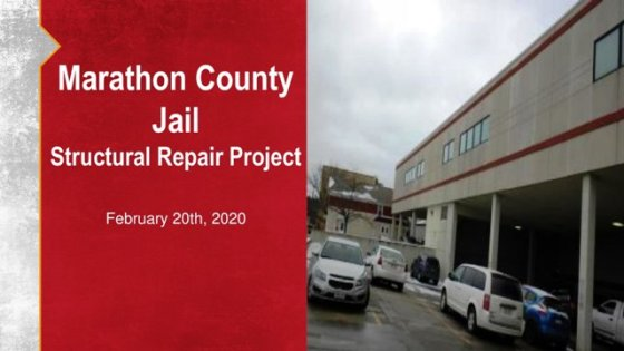 Jail Update - PowerPoint Presentation Cover Slide