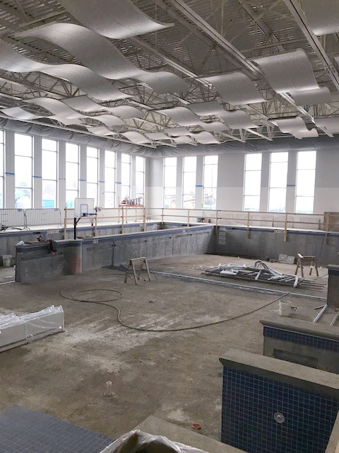 NCHC Warm Water Therapeutic Pool construction