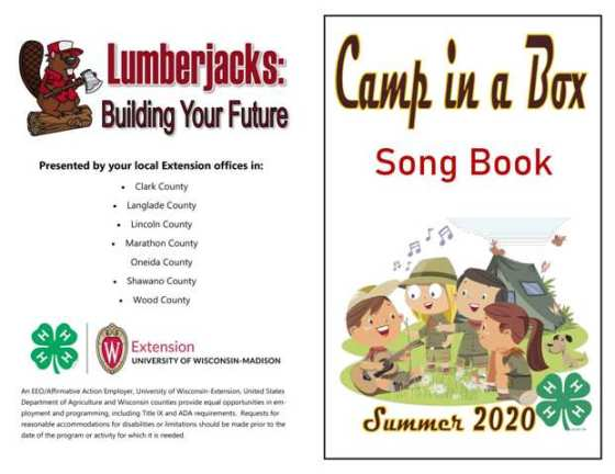 Camp In A Box Song Book cover