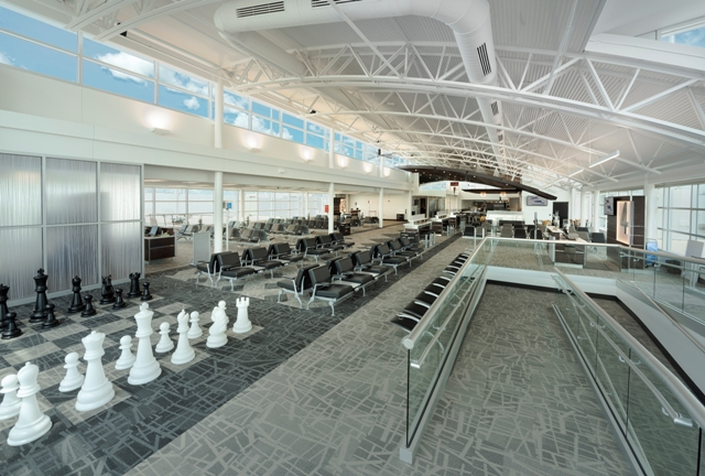 Central Wisconsin Airport-Chess Set in Concourse