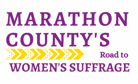 Marathon County's Road to Women's Suffrage logo