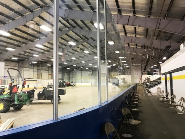New dasher boards and glass at Marathon Ice Arena