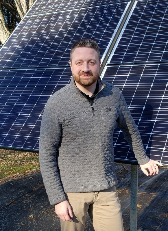 Jonathan Fisher by Solar Panels