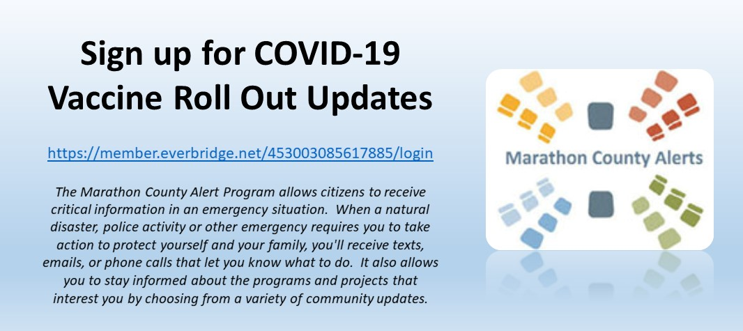 Sign up for COVID-19 Vaccine Rollout Updates