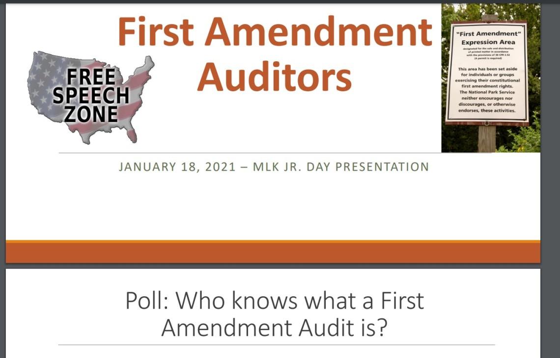 FIrst Amendment Auditors screen capture