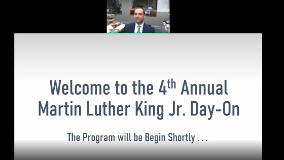 MLK Day On Welcome screen capture