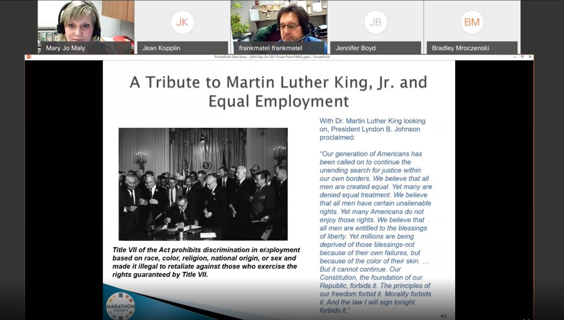 Tribute to MLK Jr screen capture