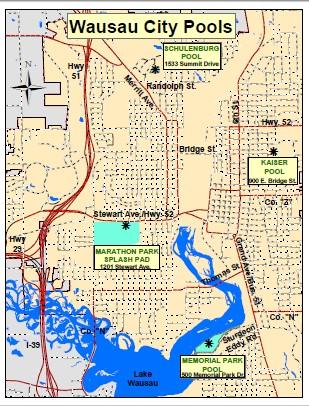 Wausau City Pool Map